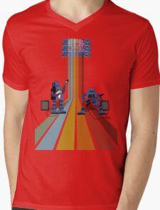 Retro Robot Rock Mens V-Neck T-Shirt