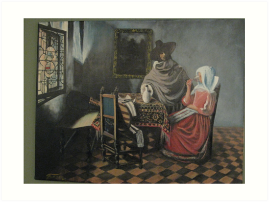 The Glass of Wine by Johannes Vermeer by Jsimone