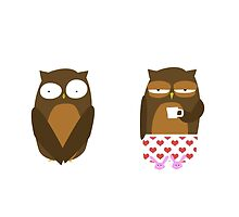 Embarrassed Owl by surlana