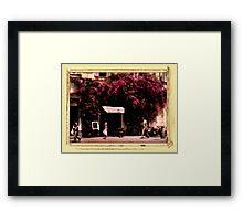 Italian Cafe Framed Print
