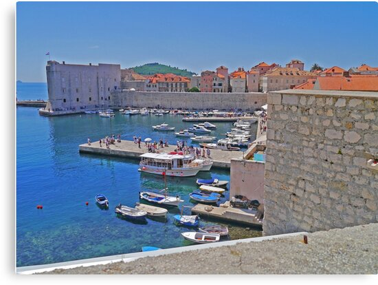 Port, Old Town, Dubrovnik, Croatia by Margaret  Hyde