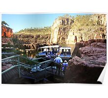 Changing boats in Katherine Gorge Poster