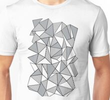 Ab Lines with Grey Blocks Unisex T-Shirt