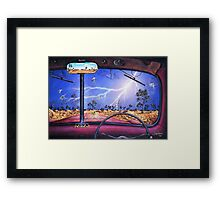This Must Be The Ridge Framed Print