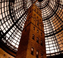 Coops Shot Tower - Angle #4 (sepia), Melbourne - The HDR Experience by Philip Johnson