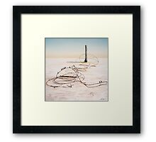 The Hippies Pilgrimage to Lake Eyre Framed Print