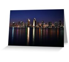 San Diego Skyline at Night Greeting Card