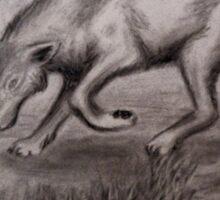 Sneaking Wolf Sticker