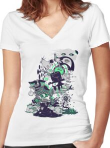 An Inevitable Twist Of Fate Women's Fitted V-Neck T-Shirt