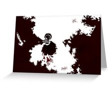 Red Design Greeting Card
