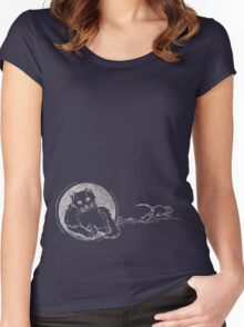 The Mouse got away! Cat and mouse T shirt Women's Fitted Scoop T-Shirt