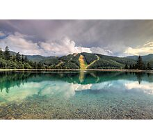 Mirrored pistes Photographic Print