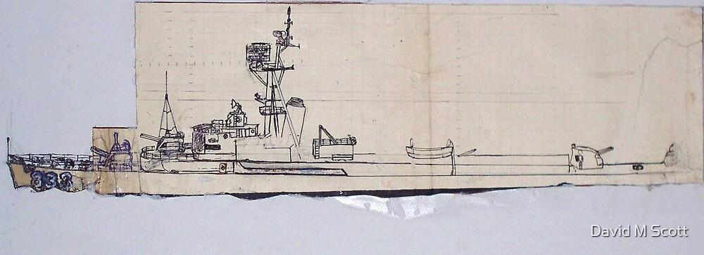 USS Ernest G Small DDR 838 by David M Scott