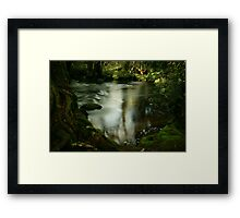 Twists and swirls on Pencil Pine Creek Framed Print