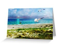 On Canvas Wings I Fly Greeting Card