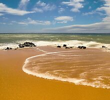 Secluded Beach along Lana'i by Jessica Veltri