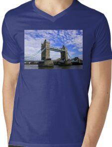 Tower Bridge London Mens V-Neck T-Shirt