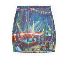 GYMPIE MUSTER -Annie Piper in the Blues Tent Mini Skirt