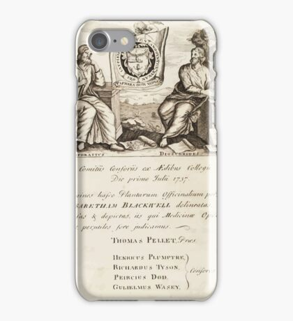 A curious herbal Elisabeth Blackwell John Norse Samuel Harding 1737 0010 Authors iPhone Case/Skin