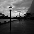 Lights by the Opera House-Black and white by Craig Stronner