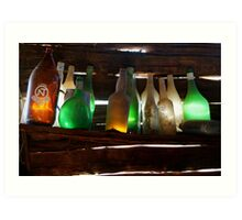 Bottles in the Shed  Art Print