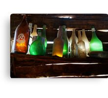 Bottles in the Shed  Canvas Print