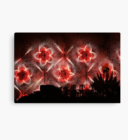 Fireworks at Siggiewi Canvas Print