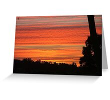 Summer Riverina Sunset Greeting Card