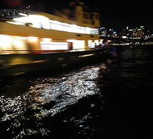 Sydney Ferry in a blur by Bernie Stronner