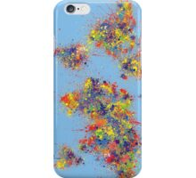 World Map brush strokes iPhone Case/Skin