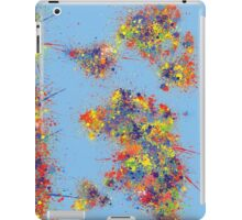 World Map brush strokes iPad Case/Skin