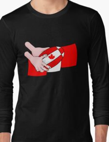 Canada Rugby Flag Long Sleeve T-Shirt