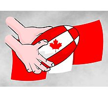 Canada Rugby Flag Photographic Print