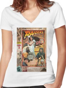 Raiders of the Lost Ark Women's Fitted V-Neck T-Shirt