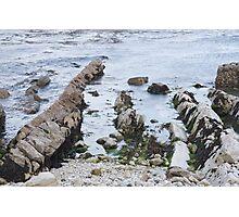 Tidal rocks in Lulworth Cove, Dorset Photographic Print