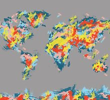 world map brush strokes 2 by BekimART