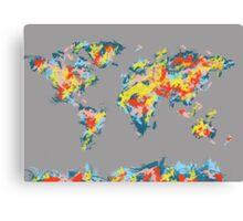 world map brush strokes 2 Canvas Print