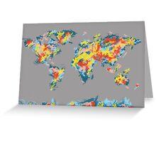 world map brush strokes 2 Greeting Card