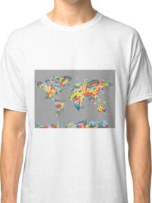 world map brush strokes 2 Classic T-Shirt