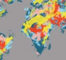 world map brush strokes 2 Sticker