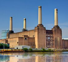 Old Power Station on the Thames - London, England by Mark Richards