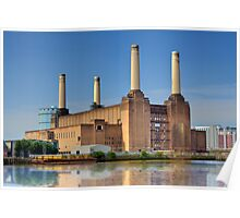 Old Power Station on the Thames - London, England Poster