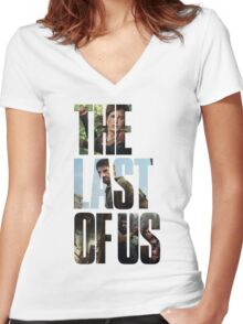 Tlou (collage) Women's Fitted V-Neck T-Shirt