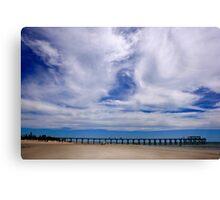 Beach and Pier Landscape Canvas Print