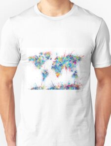 world map color splats T-Shirt