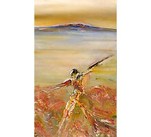 Figure in the Landscape-Lake King Photographic Print