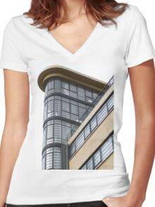 London Deco: Ibex House 3 Women's Fitted V-Neck T-Shirt