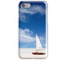A boat on the beach iPhone Case/Skin