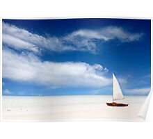 A boat on the beach Poster