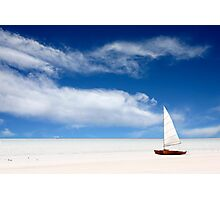 A boat on the beach Photographic Print